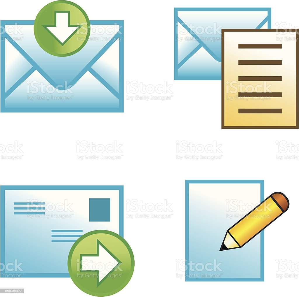 Email Icons royalty-free stock vector art