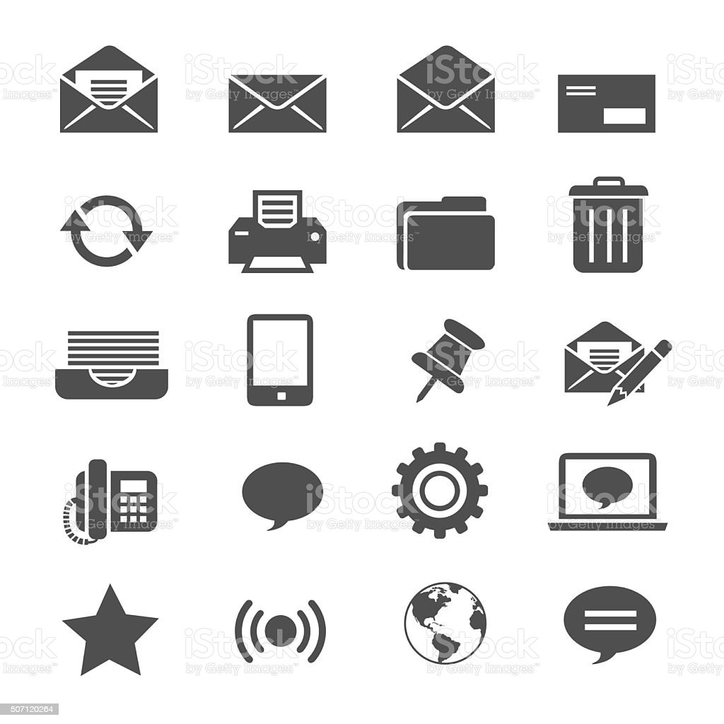 email icons vector art illustration