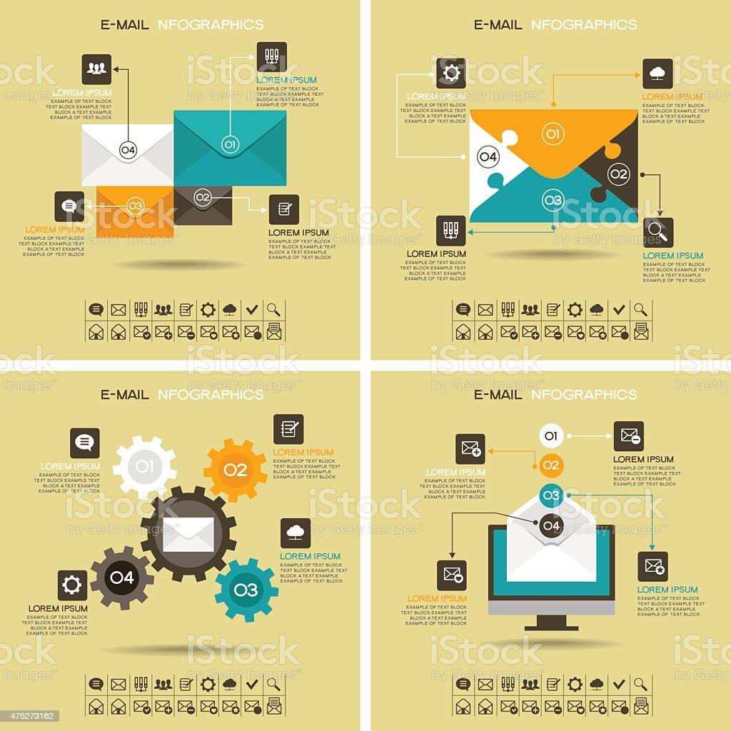 E-mail infographics vector art illustration