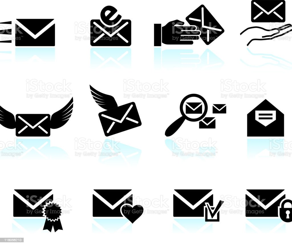 email letter and communication vector art illustration