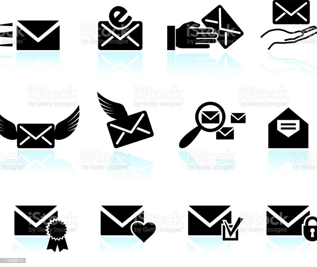 email letter and communication vector art illustration