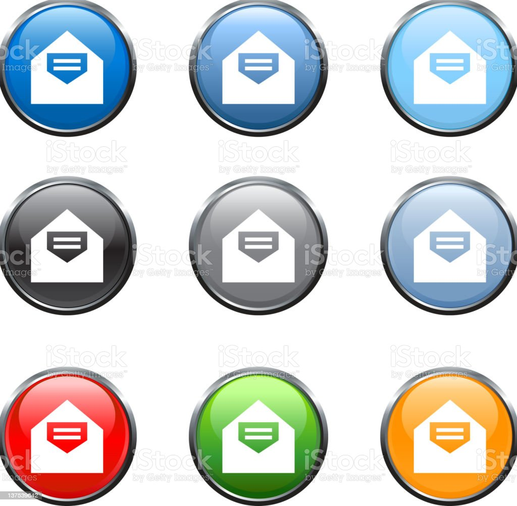 email mail royalty free vector art button set royalty-free stock photo