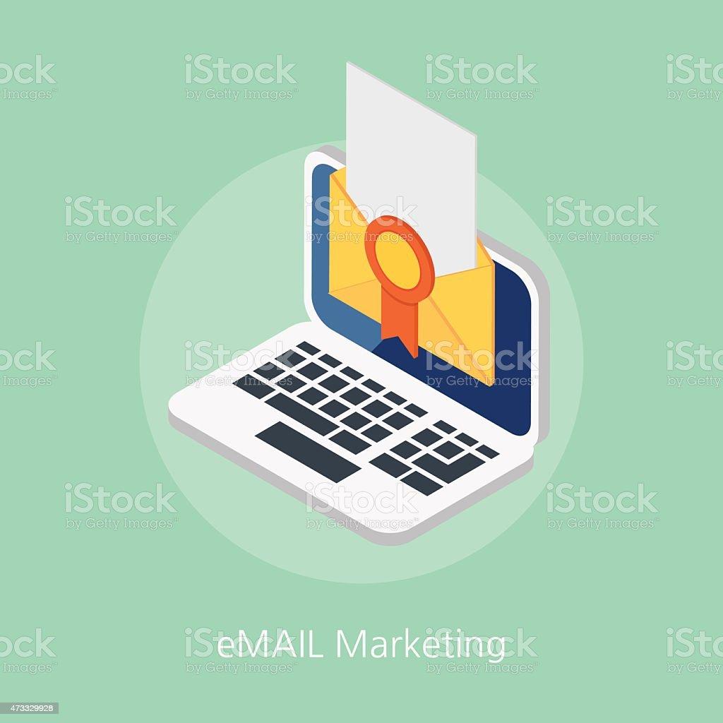 email marketing concept design 3d isometric vector illustration vector art illustration