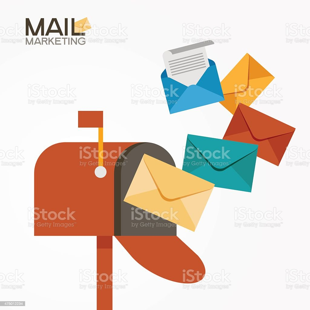 E-mail marketing vector art illustration