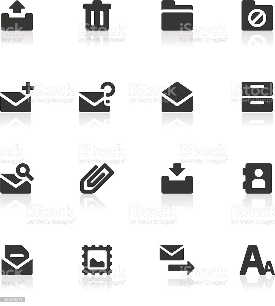 E-mail & Message Icons royalty-free stock vector art