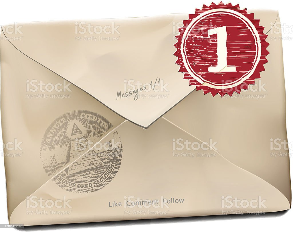 E-mail old new folder message. royalty-free stock vector art