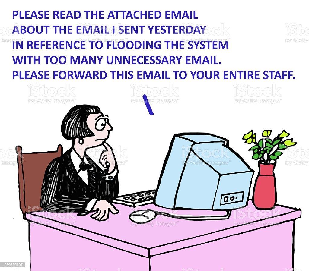 Email Overload vector art illustration