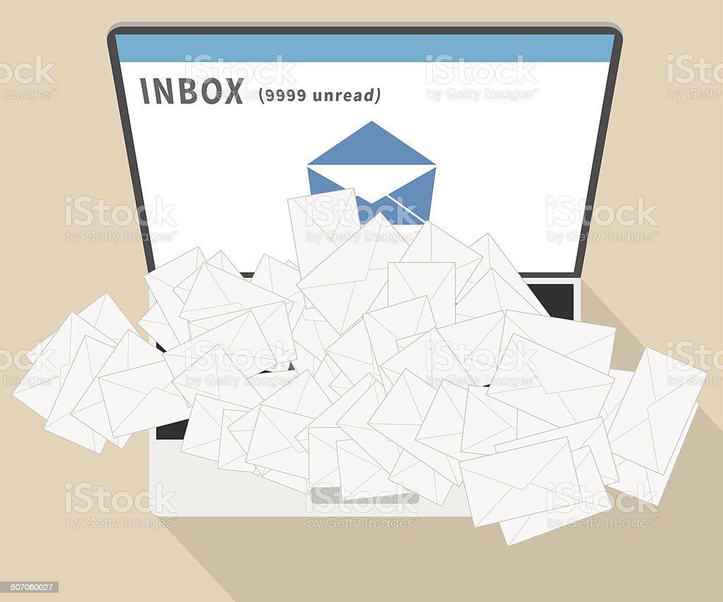 E-mail spam vector art illustration