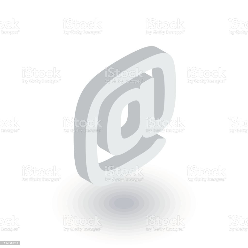 email symbol isometric flat icon. 3d vector vector art illustration