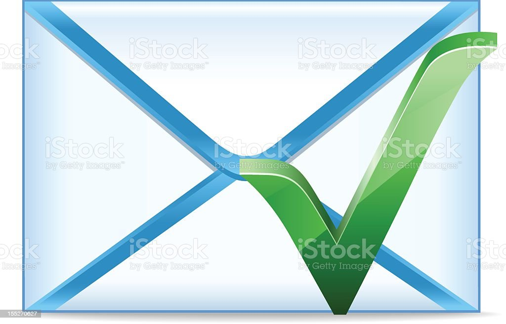 Email with check mark royalty-free stock photo