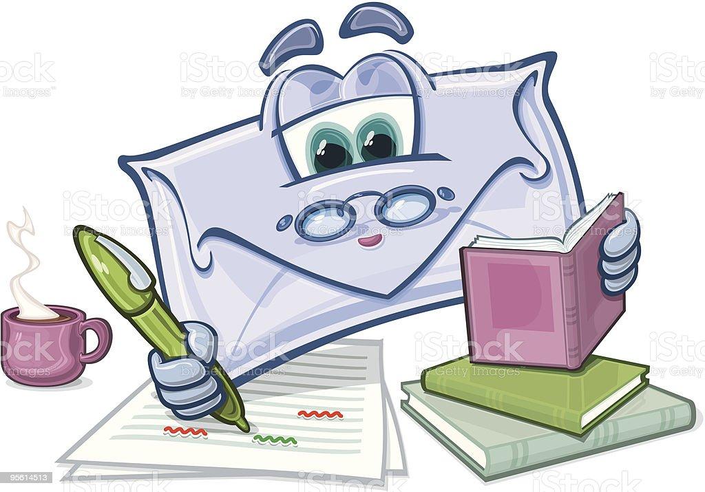Email-Spell Check vector art illustration