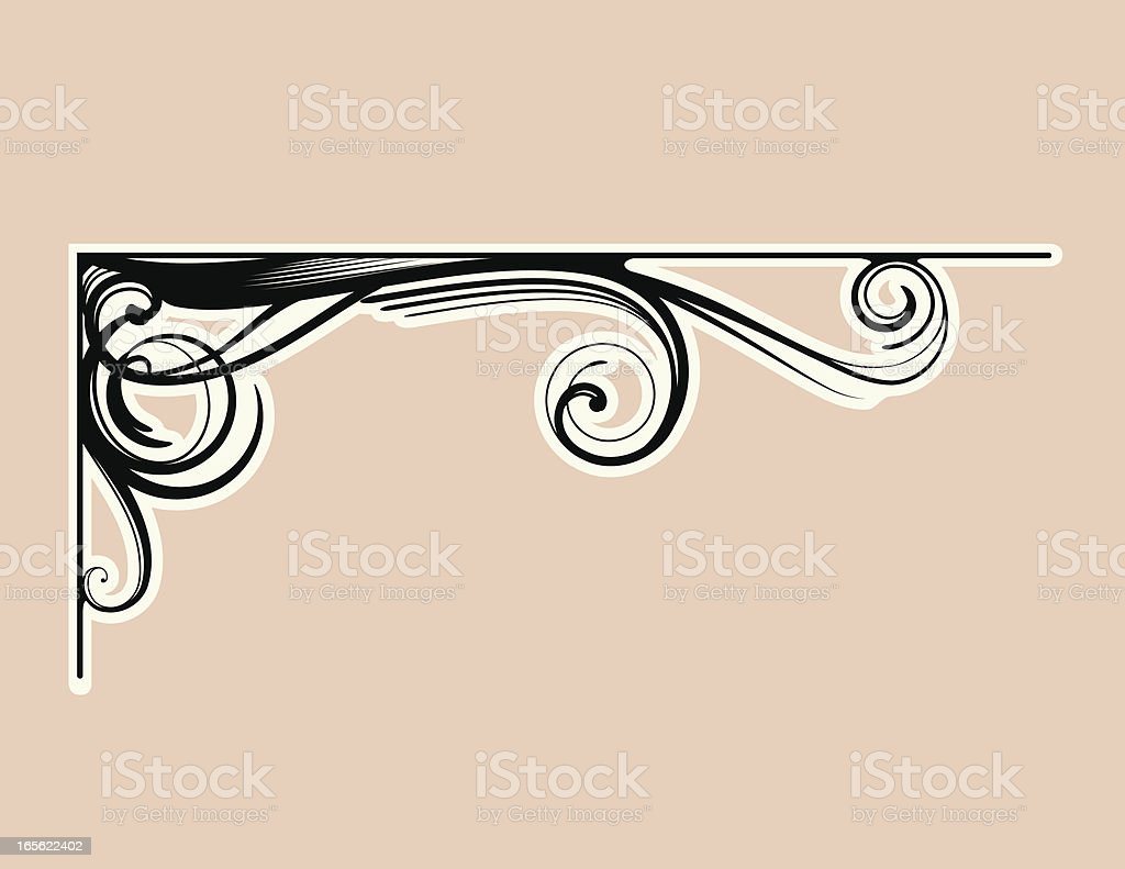 Embellishment Corner royalty-free stock vector art