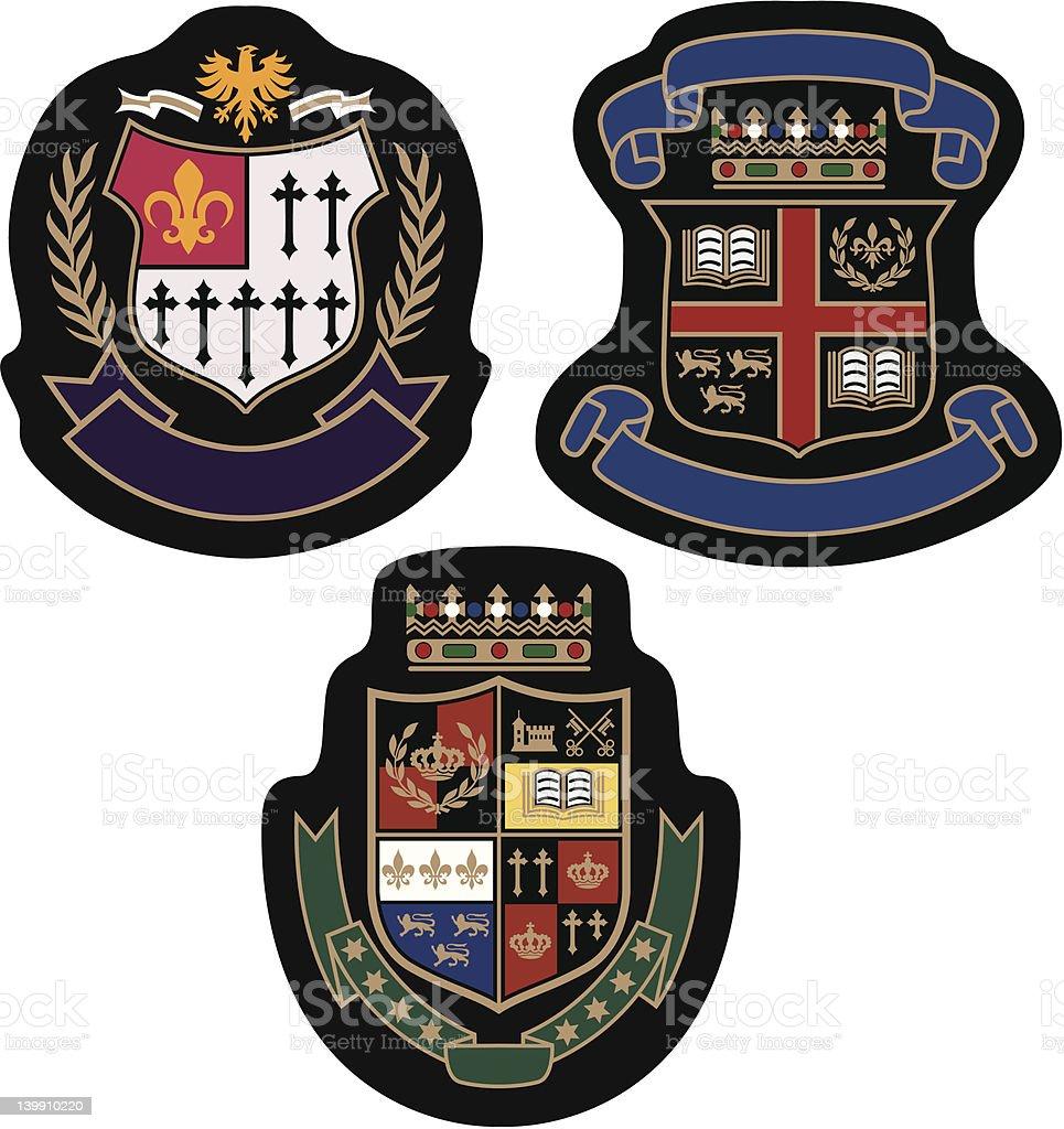 Emblema distintivo college illustrazione royalty-free