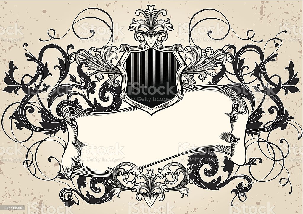 Emblem & Scroll royalty-free stock vector art
