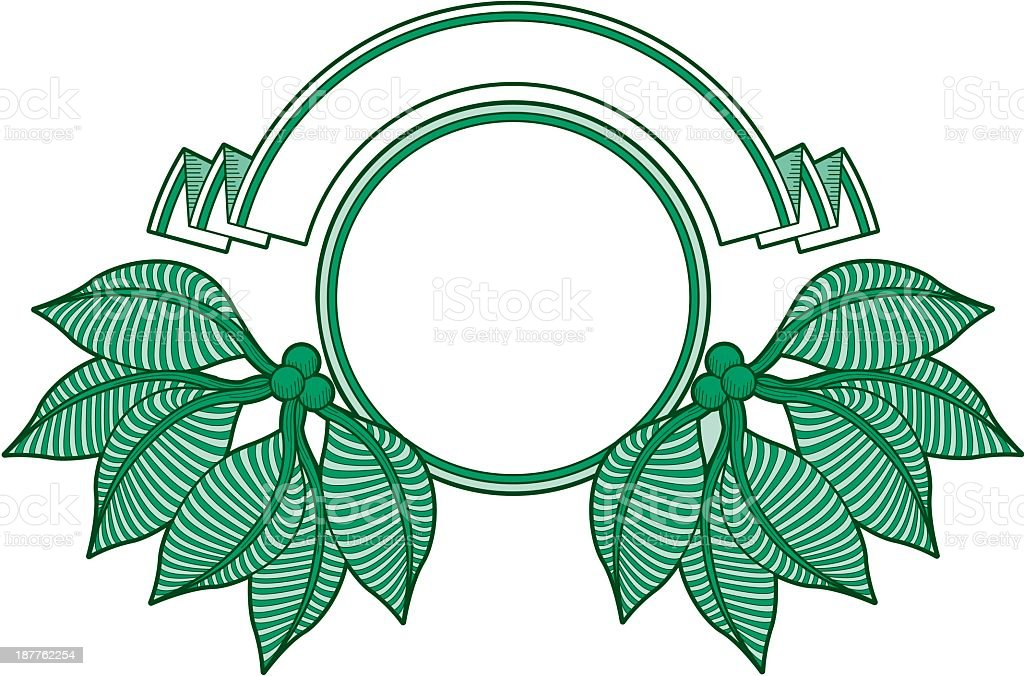 Emblem with Leaves royalty-free stock vector art