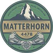 Emblem with text Matterhorn