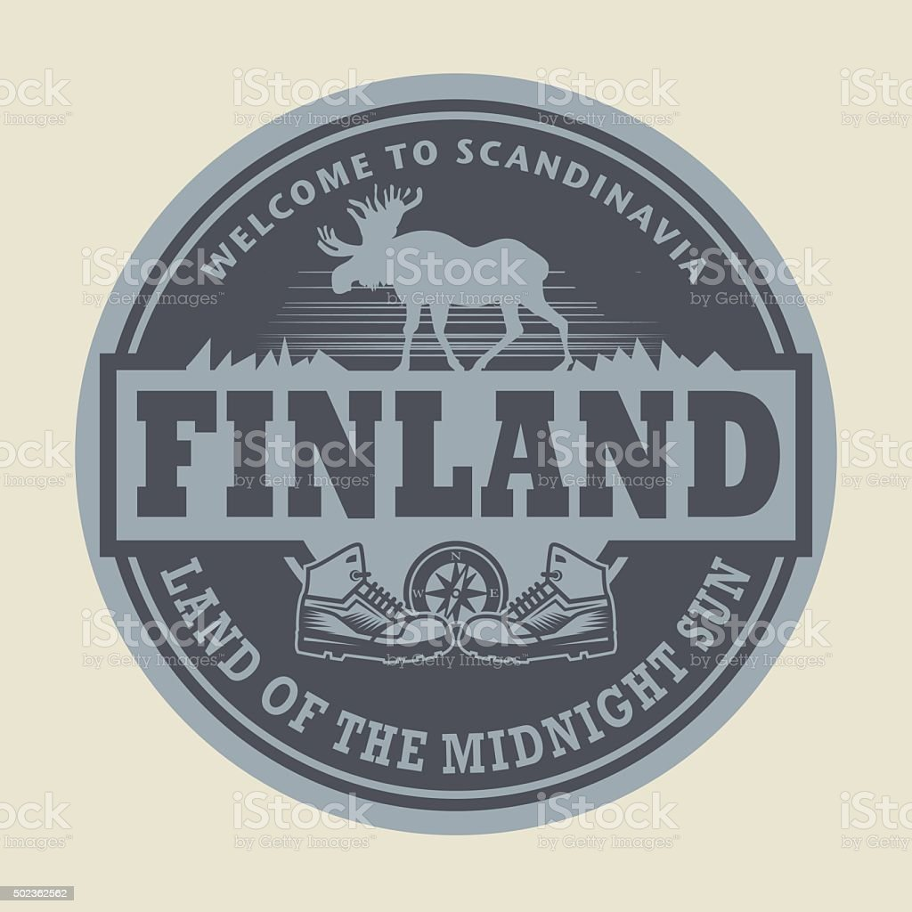 Emblem with the text Finland vector art illustration