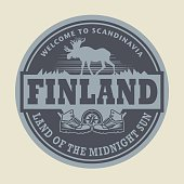 Emblem with the text Finland