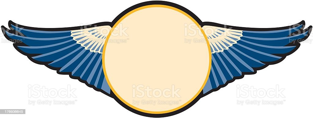 Emblem With Wings royalty-free stock vector art