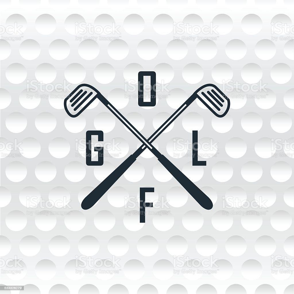 Emblems golf clubs. Retro label design. vector art illustration