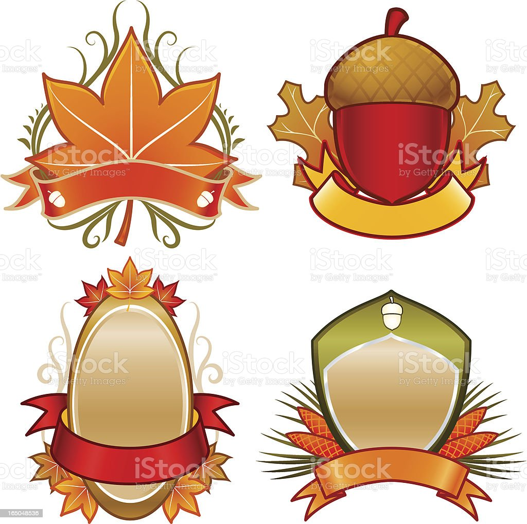 emblems of the fall royalty-free stock vector art