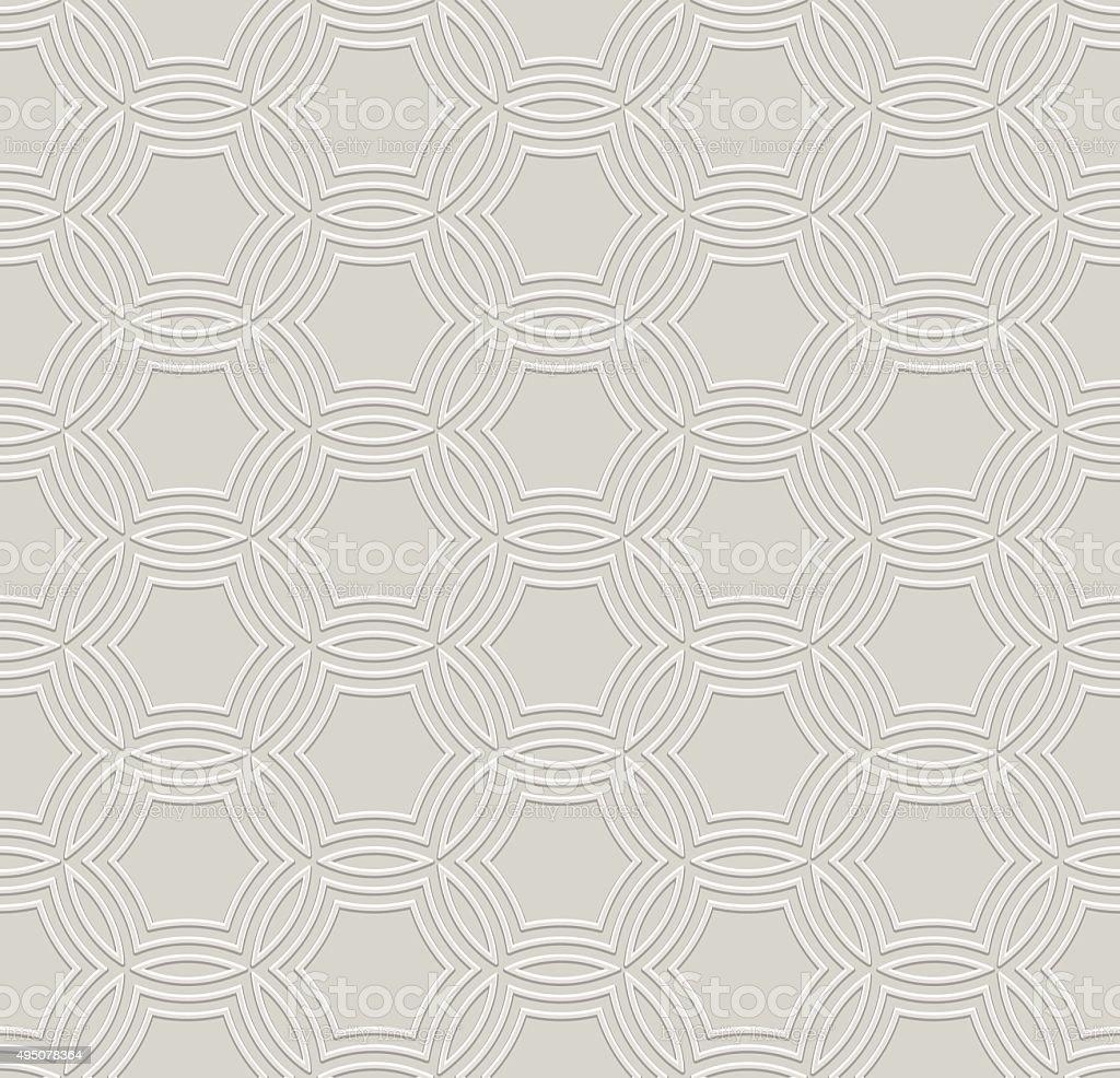 Embossed Seamless Pattern vector art illustration