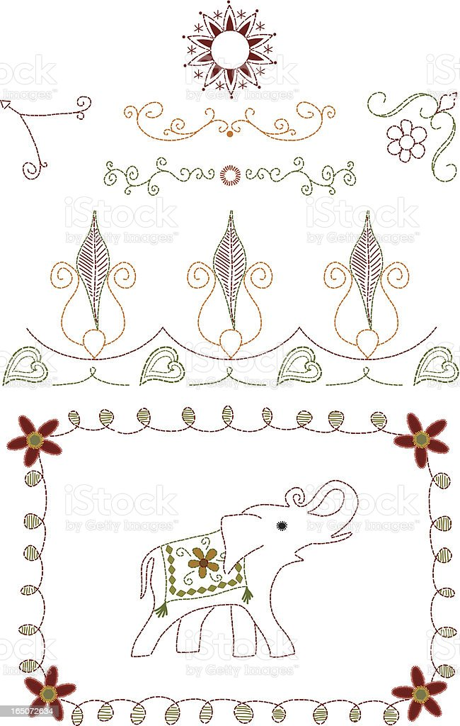 Embroidery (Vector) royalty-free stock vector art