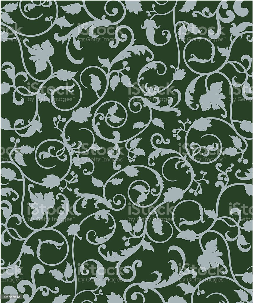 Emerald Vines royalty-free stock vector art