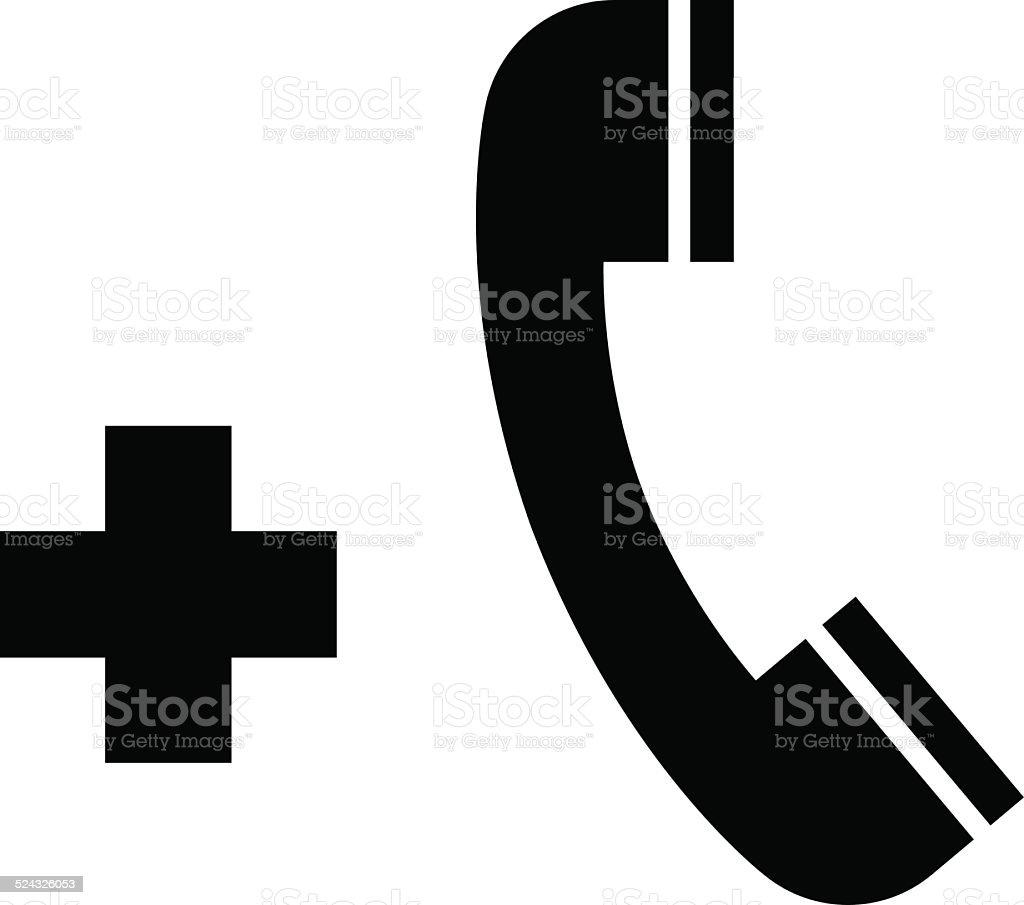 Emergency call icon vector art illustration