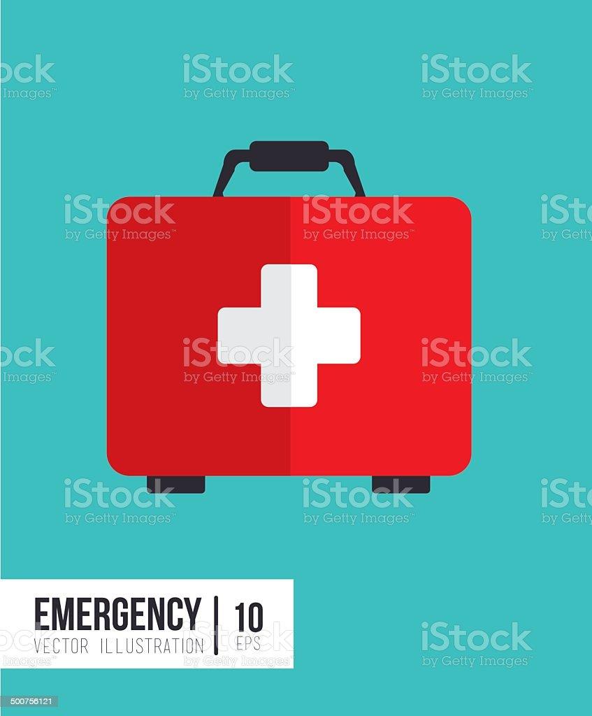emergency design vector art illustration