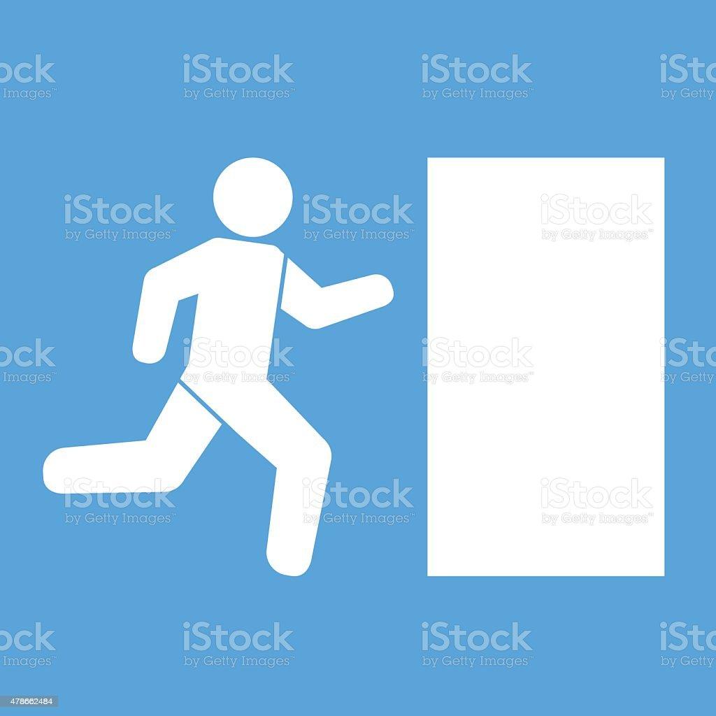 Emergency exit  icon sign vector illustration vector art illustration