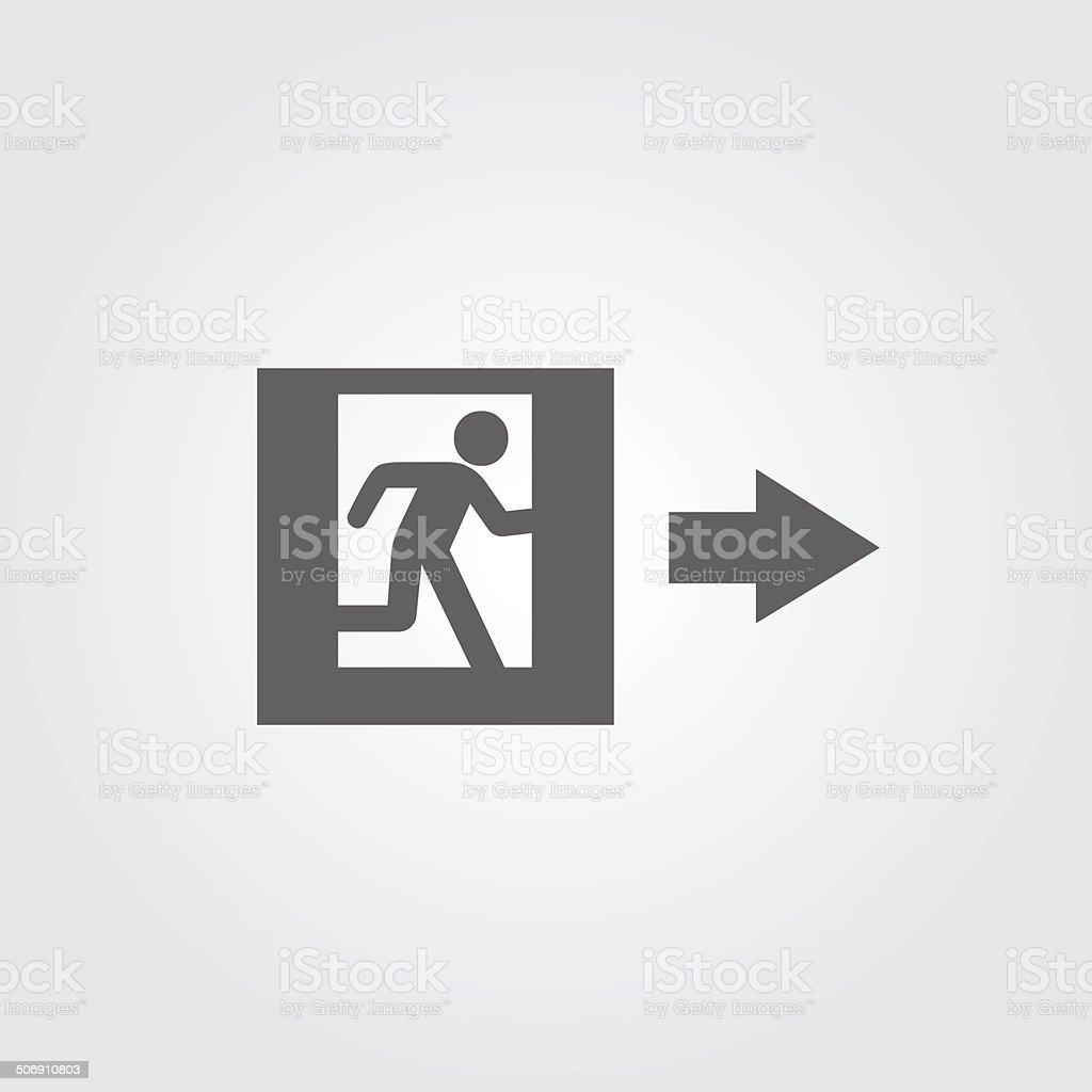 emergency exit sign vector art illustration