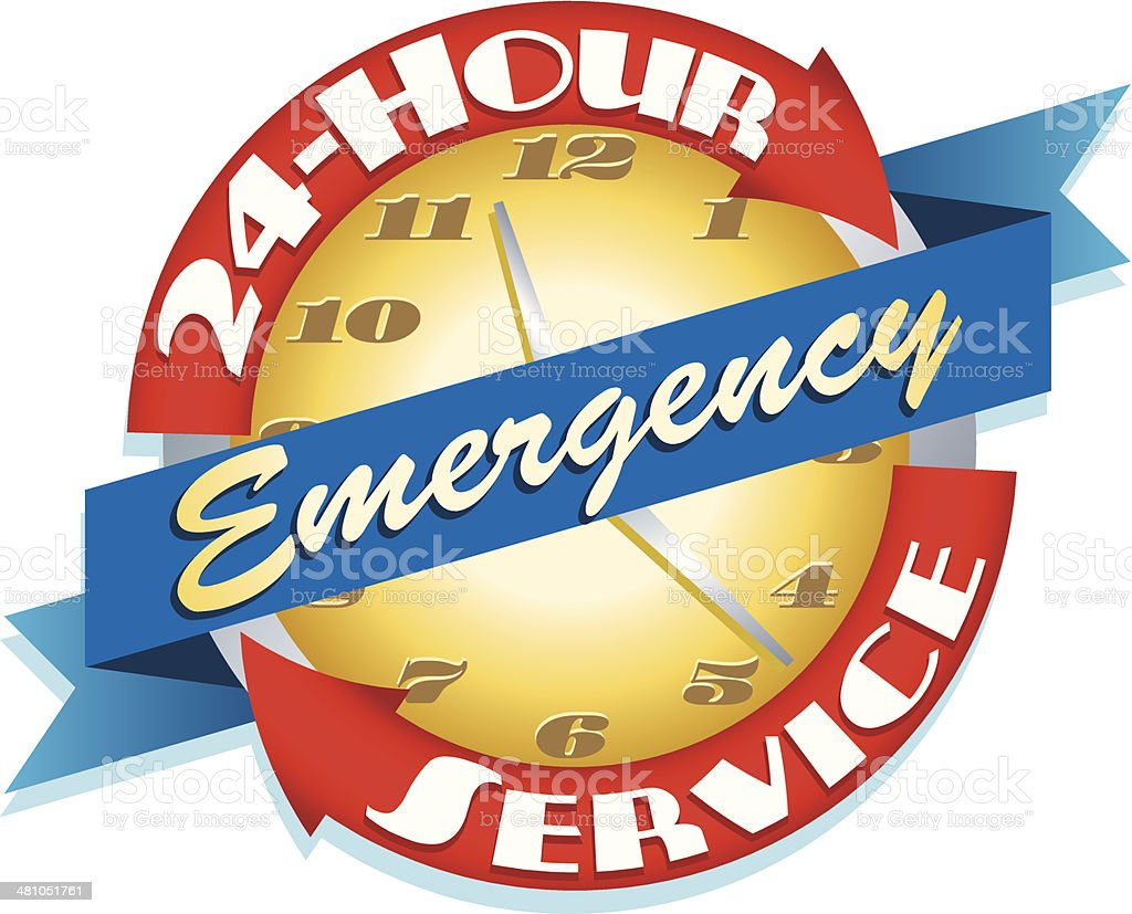 Emergency Heading vector art illustration