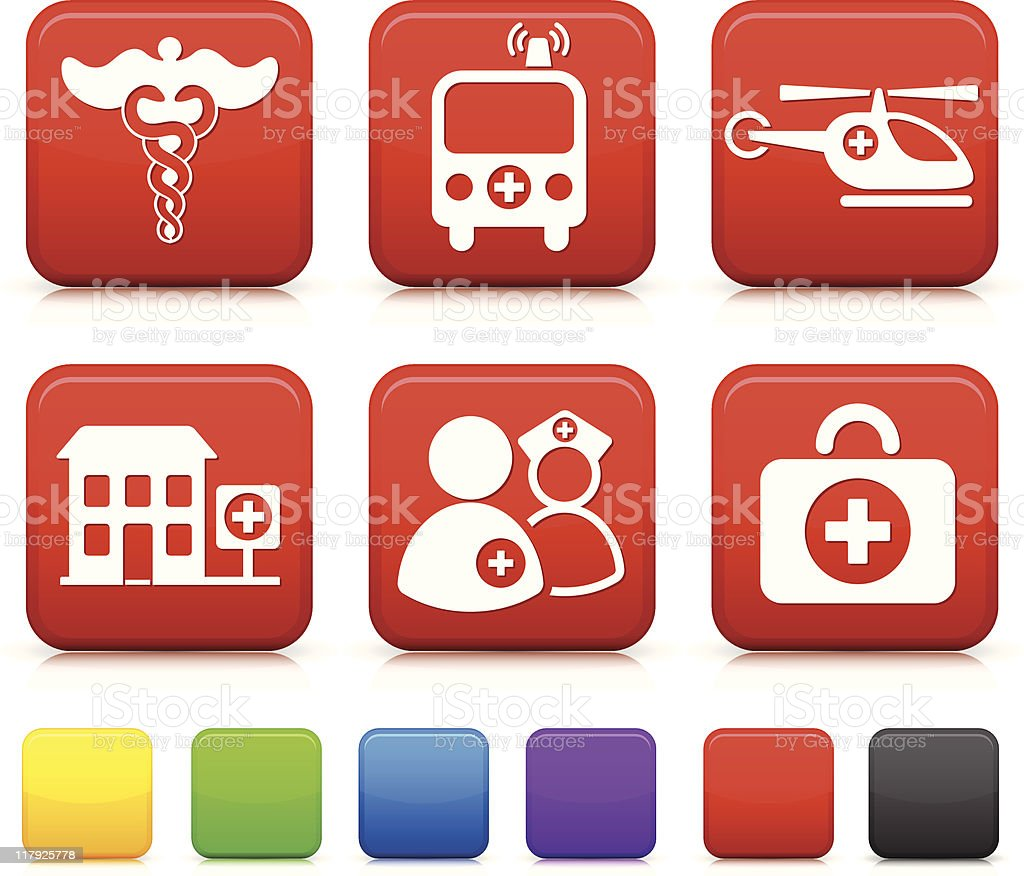 emergency icon collection royalty-free stock vector art