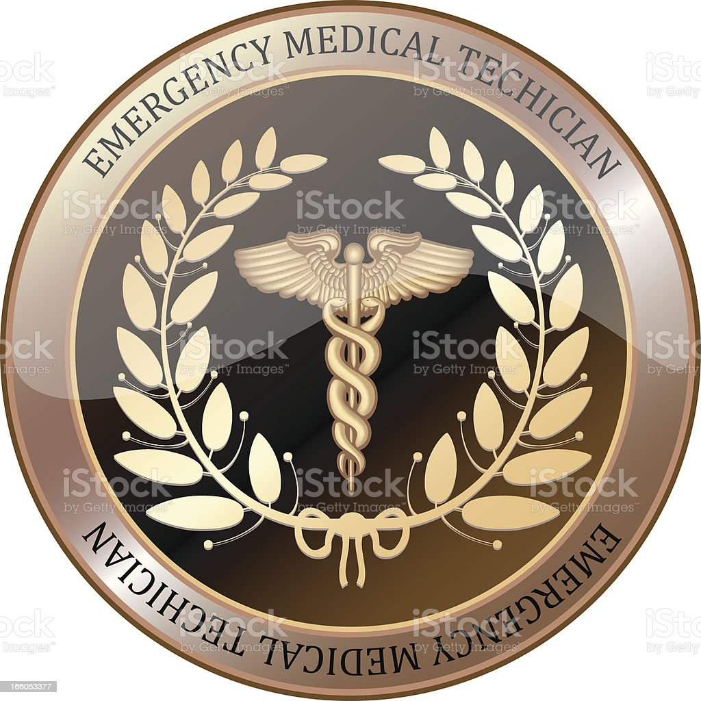 Emergency Medical Technician Shield royalty-free stock vector art