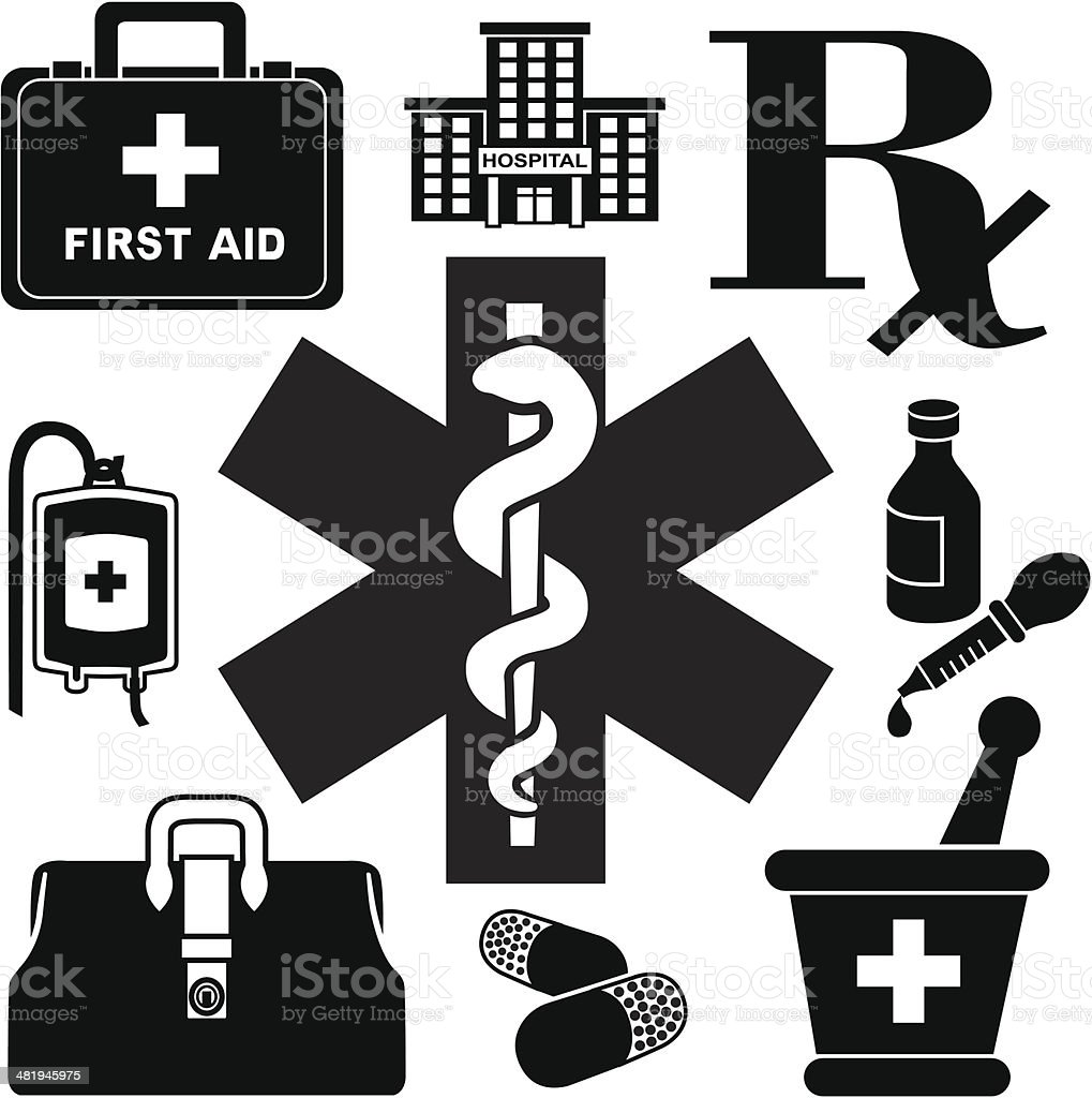 emergency medicine royalty-free stock vector art