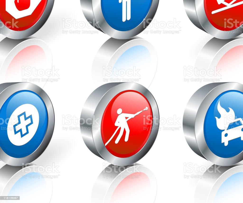 emergency response 3D royalty free vector icon set royalty-free stock vector art