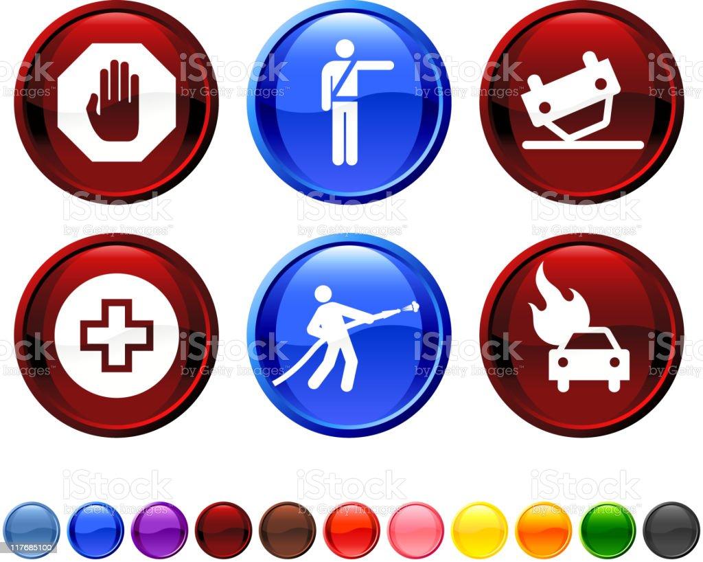 emergency response royalty free vector icon set royalty-free stock vector art
