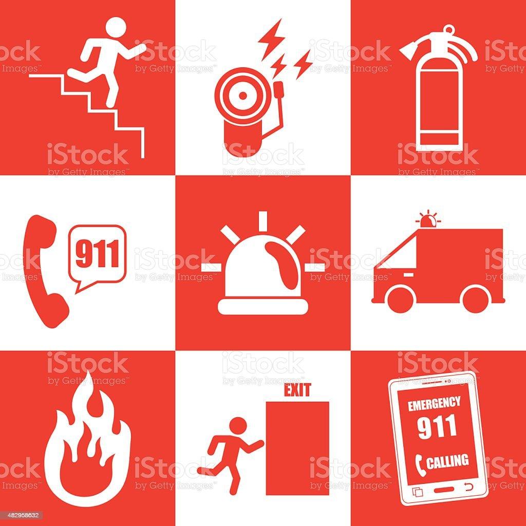 Emergency sign design vector art illustration