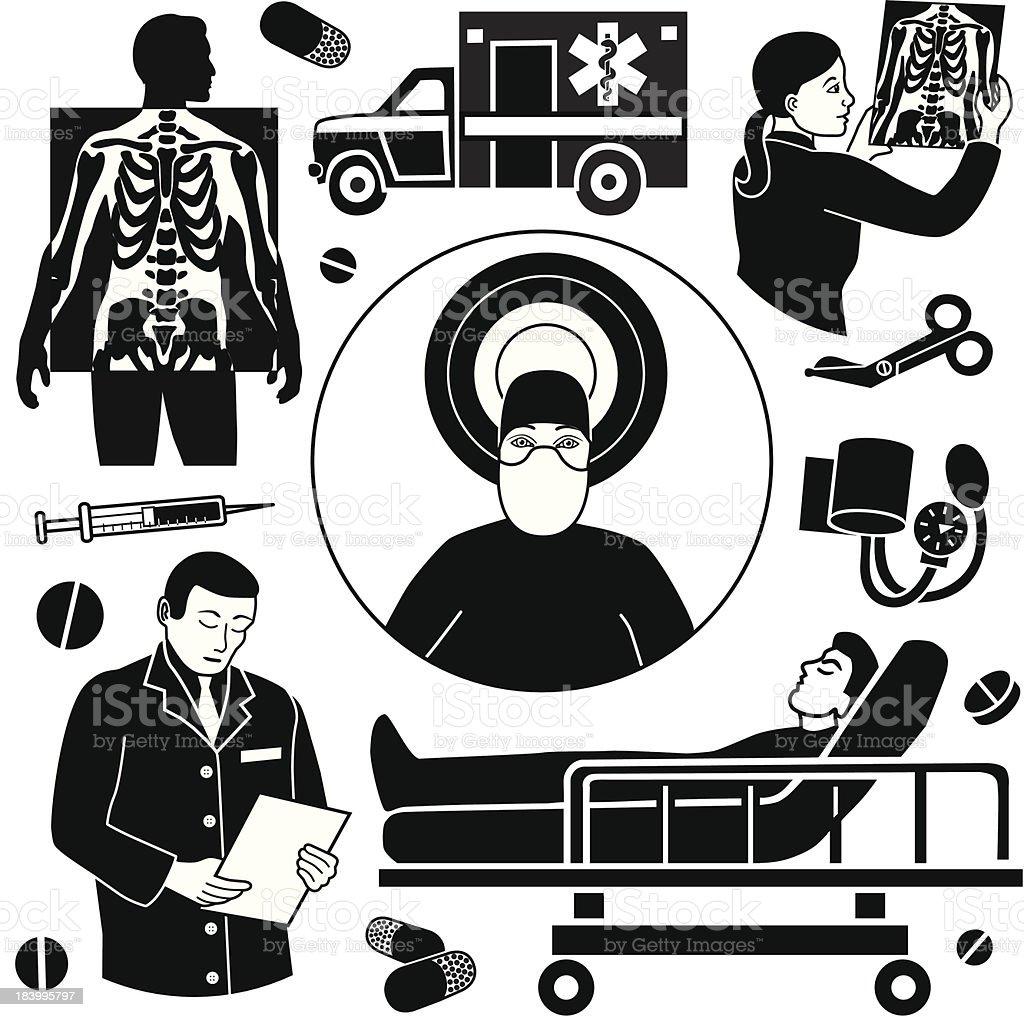 emergency surgery royalty-free stock vector art