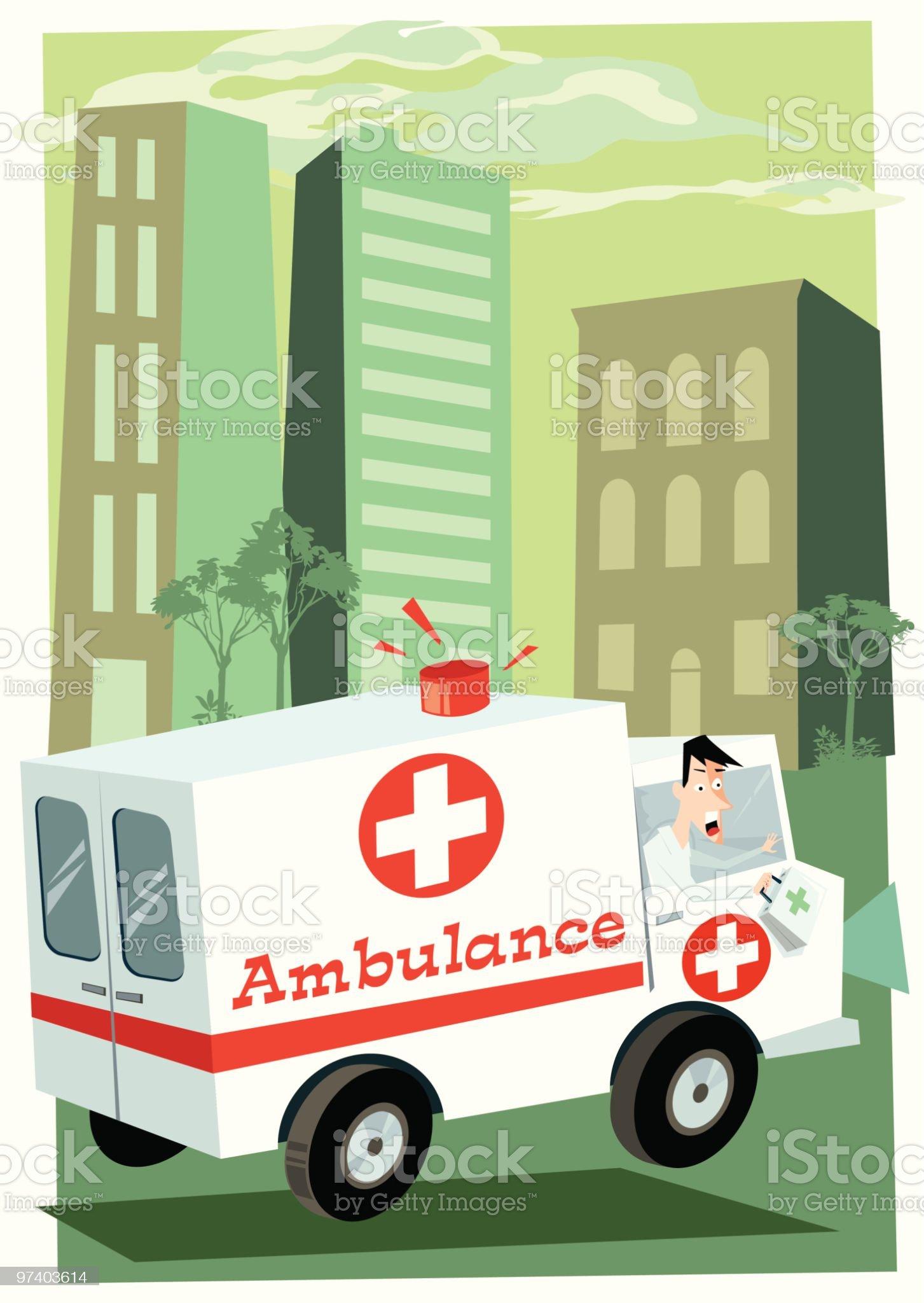 Emergency royalty-free stock vector art