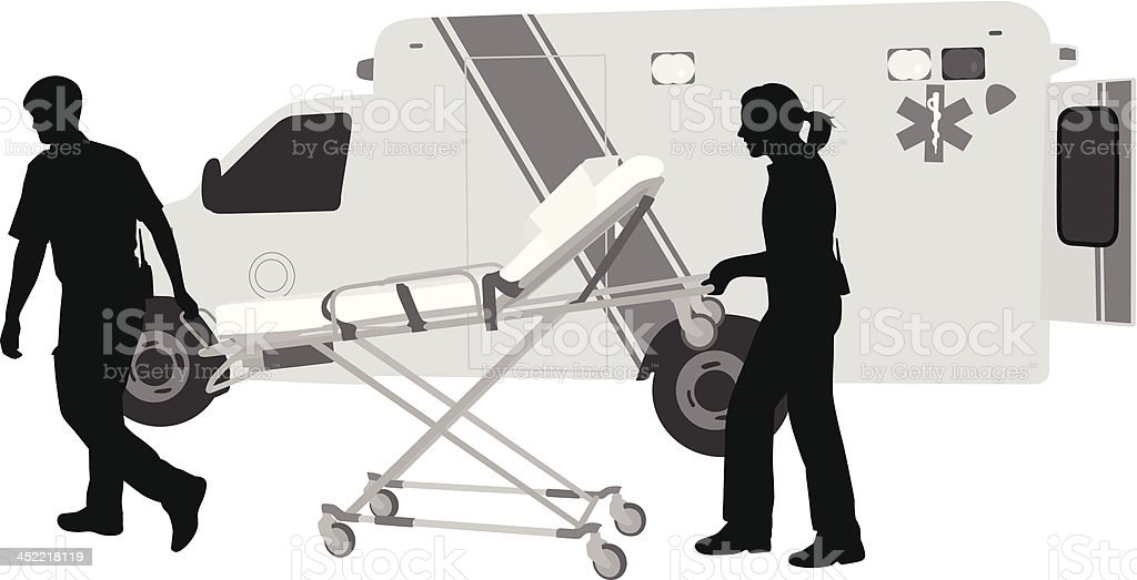 Emergency Worker royalty-free stock vector art