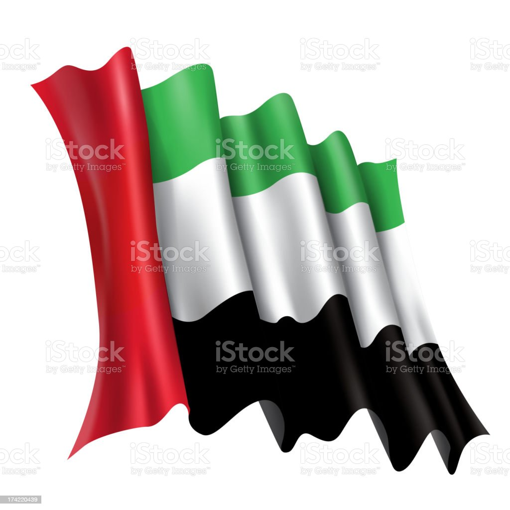 UAE, Emirates Flag royalty-free stock vector art
