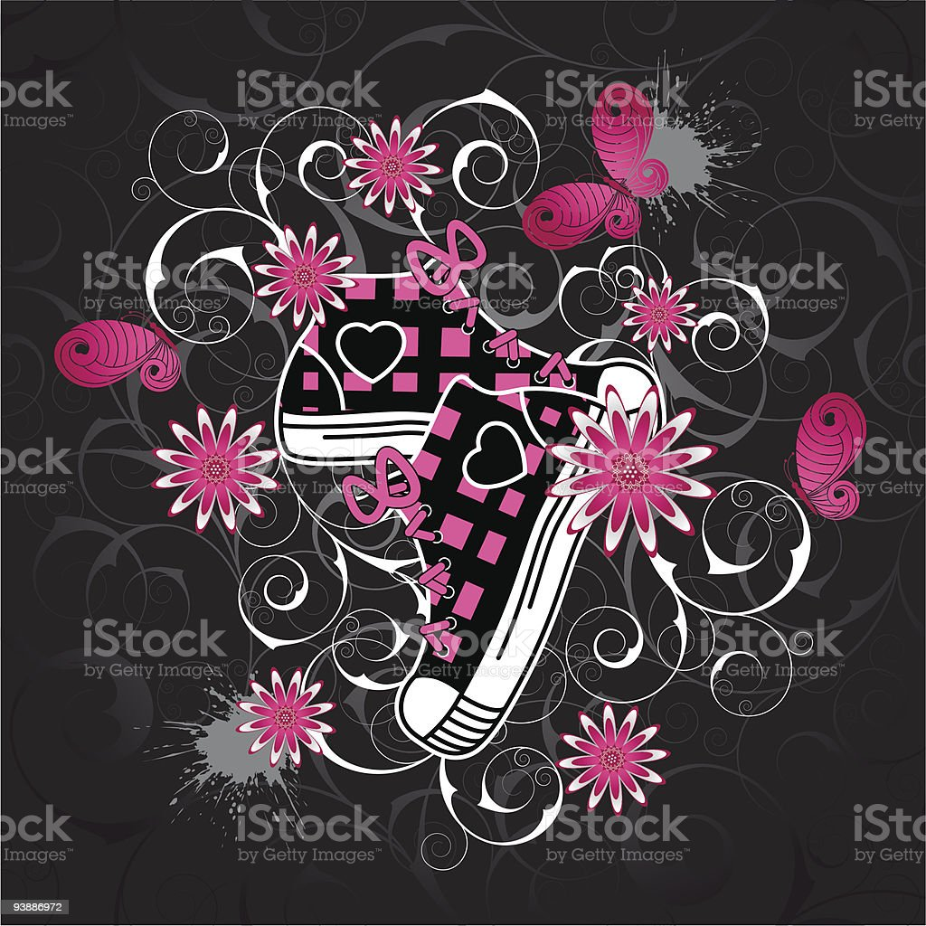 Emo  background royalty-free stock vector art
