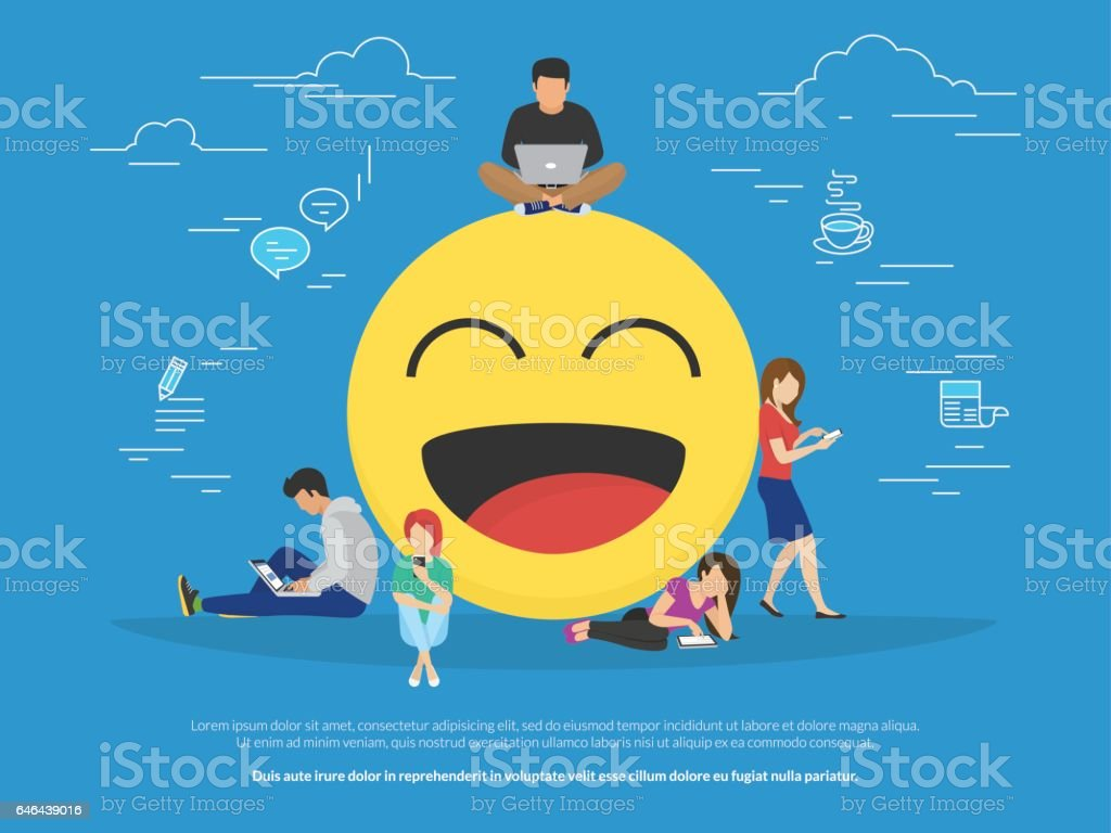 Emoji concept illustration vector art illustration