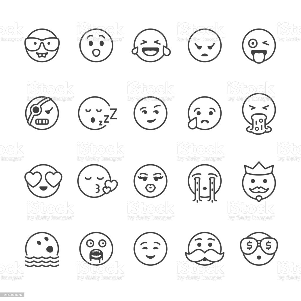 Emoji face vector icons vector art illustration