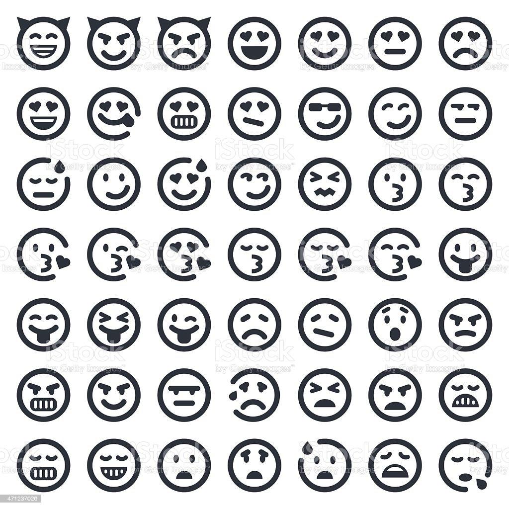 Emoji icons set 2   49ers Series vector art illustration