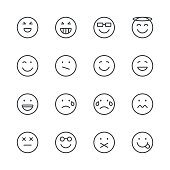 Emoji Icons set 3 | Black Line series