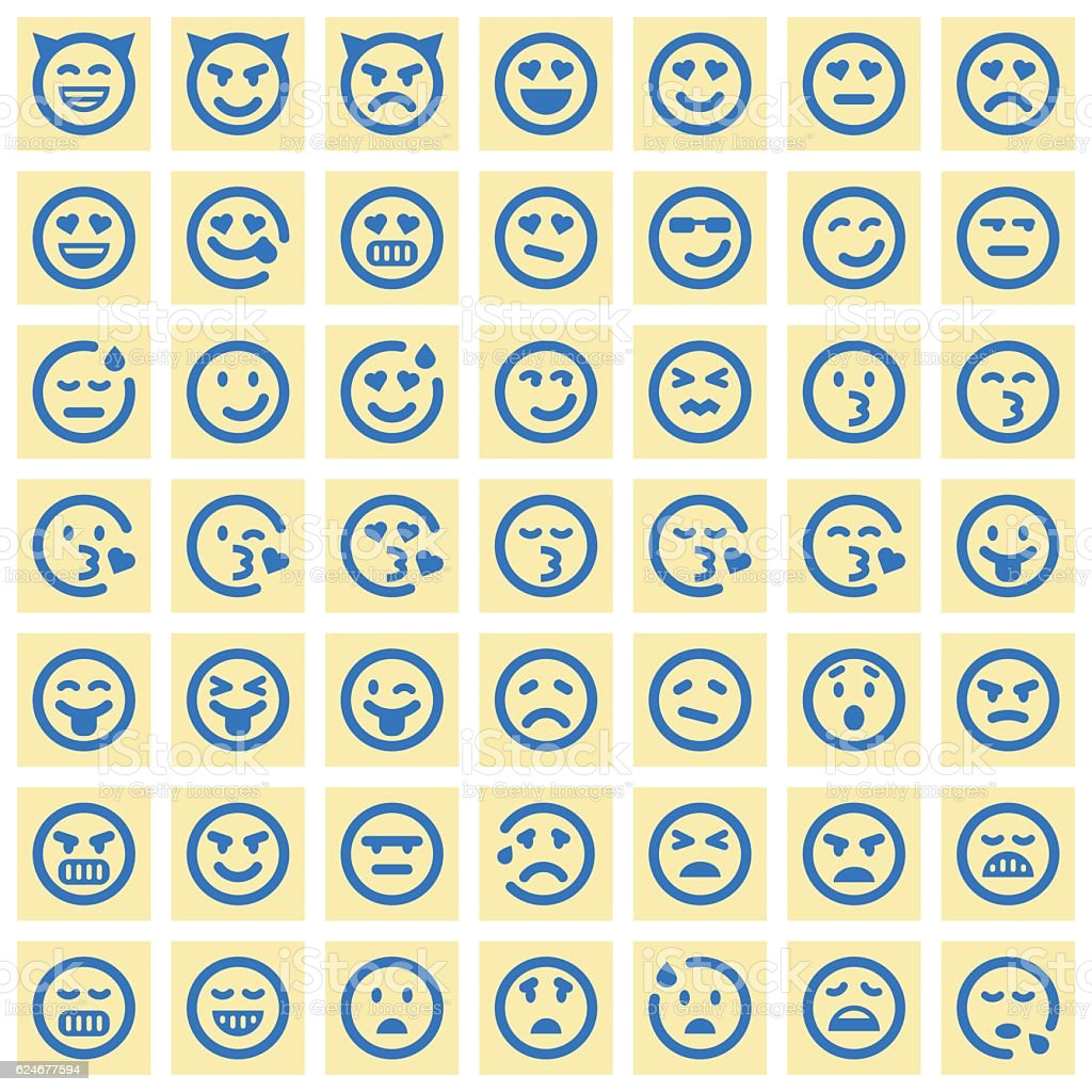 Emoji icons vector art illustration