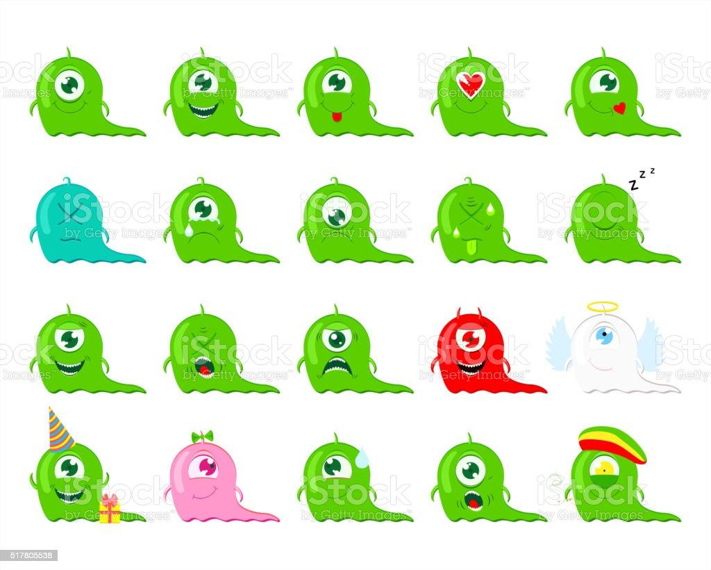 Emoji. Set of Emoticons. vector art illustration